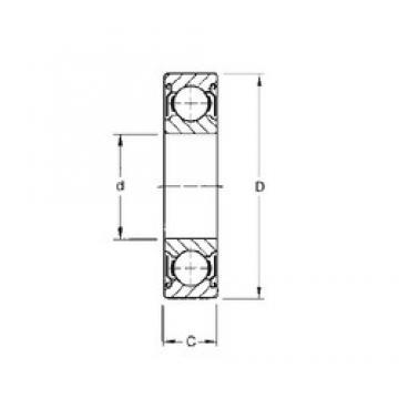 160 mm x 220 mm x 28 mm  CYSD 6932-ZZ deep groove ball bearings