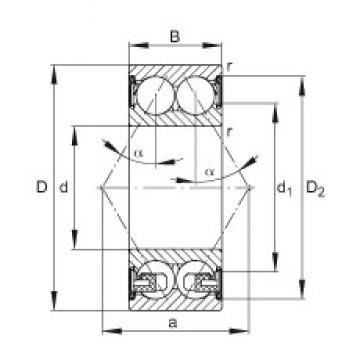 20 mm x 47 mm x 20,6 mm  FAG 3204-BD-2Z-TVH angular contact ball bearings