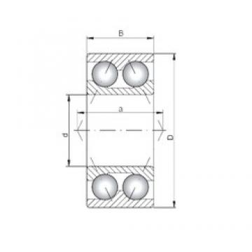 20 mm x 47 mm x 20,6 mm  Loyal 3204 angular contact ball bearings