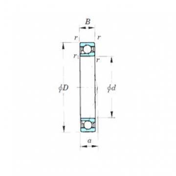 160 mm x 220 mm x 28 mm  KOYO 7932CPA angular contact ball bearings