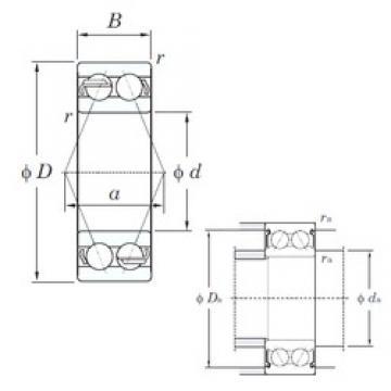 20 mm x 47 mm x 20.6 mm  KOYO 5204 angular contact ball bearings