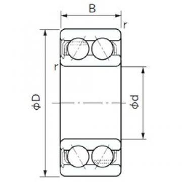 20 mm x 47 mm x 20.6 mm  NACHI 5204NS angular contact ball bearings