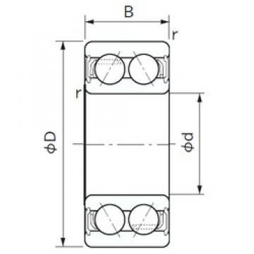 20 mm x 47 mm x 20.6 mm  NACHI 5204A-2NS angular contact ball bearings