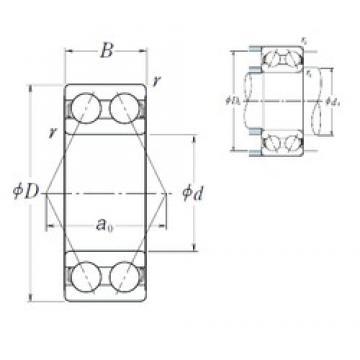 20 mm x 47 mm x 20,6 mm  NSK 5204 angular contact ball bearings
