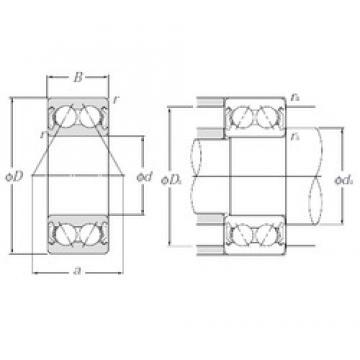 20 mm x 47 mm x 20,6 mm  NTN 5204SCZZ angular contact ball bearings