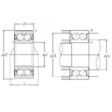20 mm x 47 mm x 20,6 mm  NTN 5204SCLLD angular contact ball bearings