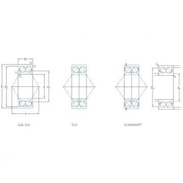 20 mm x 47 mm x 20,6 mm  SKF 3204ATN9 angular contact ball bearings
