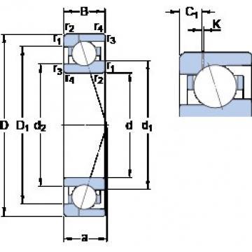 80 mm x 110 mm x 16 mm  SKF 71916 CE/HCP4AH1 angular contact ball bearings