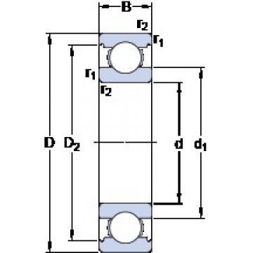 80 mm x 110 mm x 16 mm  SKF 61916 deep groove ball bearings