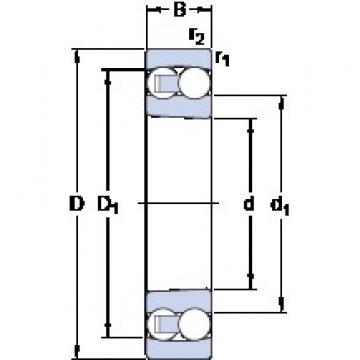 80 mm x 140 mm x 26 mm  SKF 1216 K self aligning ball bearings