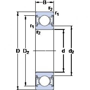 17 mm x 40 mm x 12 mm  SKF 6203-2RSL deep groove ball bearings