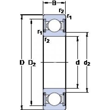 40 mm x 80 mm x 18 mm  SKF W 6208-2RS1/VP311 deep groove ball bearings