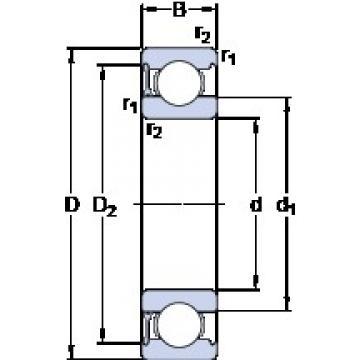 50 mm x 90 mm x 20 mm  SKF 6210-RZ deep groove ball bearings