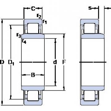 50 mm x 90 mm x 20 mm  SKF NUB 210 ECP thrust ball bearings