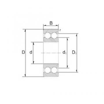 20 mm x 47 mm x 20,6 mm  ZEN 3204 angular contact ball bearings