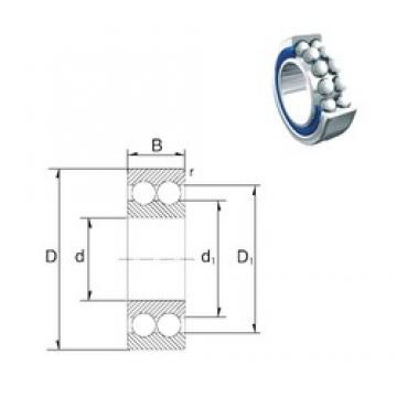 20 mm x 47 mm x 20,6 mm  ZEN 3204-2RS angular contact ball bearings