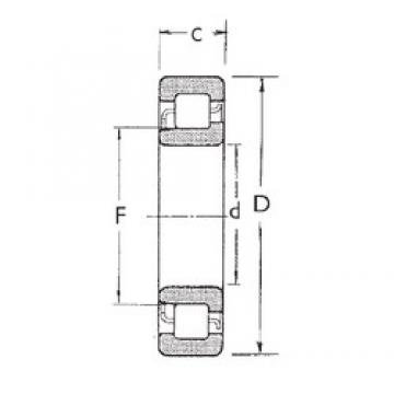 95 mm x 240 mm x 55 mm  FBJ NJ419 cylindrical roller bearings