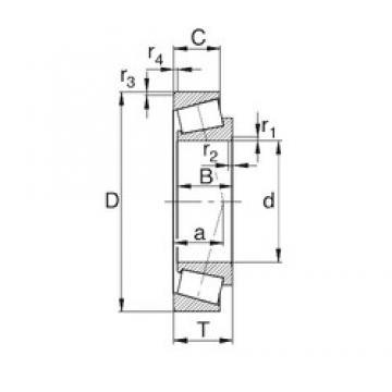30 mm x 55 mm x 17 mm  KBC 32006XJ tapered roller bearings
