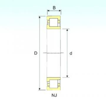 110 mm x 280 mm x 65 mm  ISB NJ 422 cylindrical roller bearings