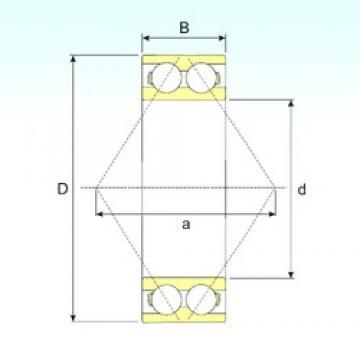 20 mm x 47 mm x 20,6 mm  ISB 3204 A angular contact ball bearings