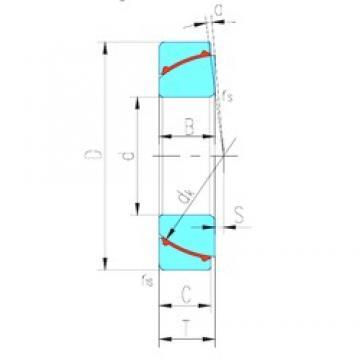 30 mm x 55 mm x 17 mm  LS GAC30N plain bearings