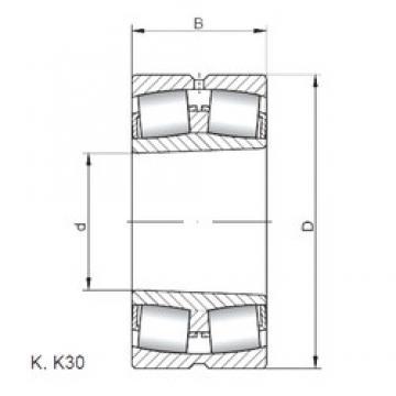 280 mm x 460 mm x 146 mm  Loyal 23156 KCW33 spherical roller bearings