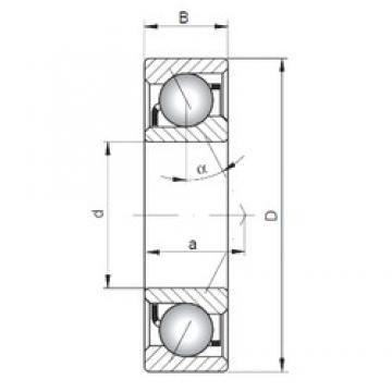 160 mm x 220 mm x 28 mm  Loyal 71932 C angular contact ball bearings