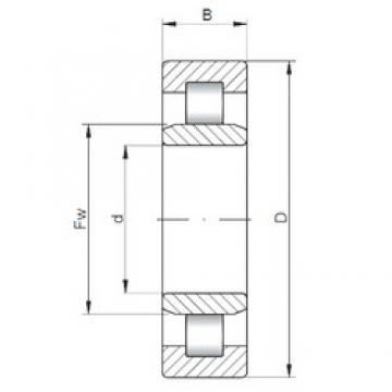 110 mm x 280 mm x 65 mm  ISO NU422 cylindrical roller bearings