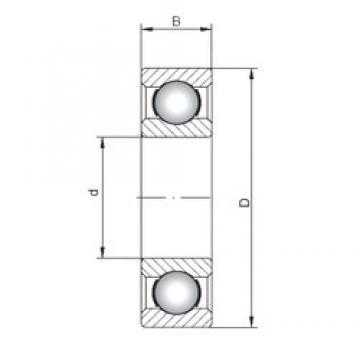 110 mm x 280 mm x 65 mm  Loyal 6422 deep groove ball bearings