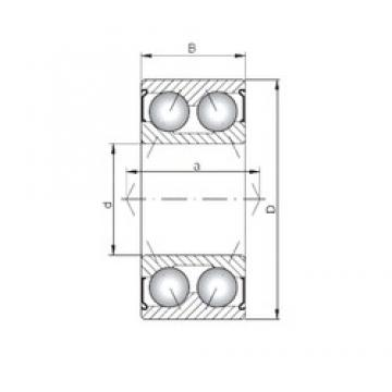ISO 3204 ZZ angular contact ball bearings