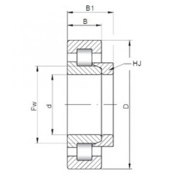 110 mm x 280 mm x 65 mm  ISO NH422 cylindrical roller bearings