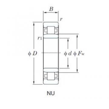 95 mm x 240 mm x 55 mm  KOYO NU419 cylindrical roller bearings