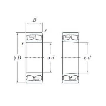 280 mm x 460 mm x 146 mm  KOYO 23156RK spherical roller bearings