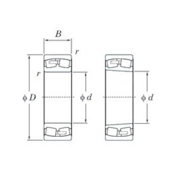 560 mm x 920 mm x 280 mm  KOYO 231/560R spherical roller bearings