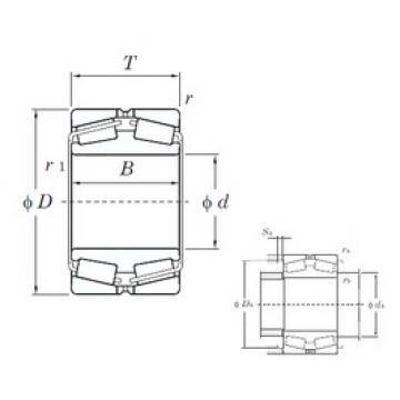 280 mm x 460 mm x 146 mm  KOYO 45356 tapered roller bearings