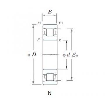 95 mm x 240 mm x 55 mm  KOYO N419 cylindrical roller bearings