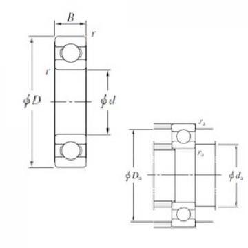 160 mm x 220 mm x 28 mm  KOYO 6932 deep groove ball bearings