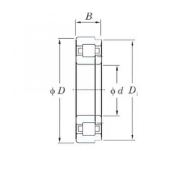110 mm x 280 mm x 65 mm  KOYO NUP422 cylindrical roller bearings