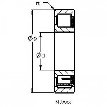 AST NJ422 M cylindrical roller bearings