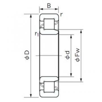 110 mm x 280 mm x 65 mm  NACHI NJ 422 cylindrical roller bearings
