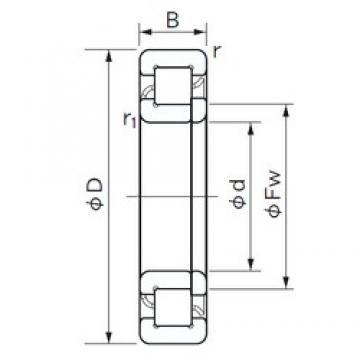 110 mm x 280 mm x 65 mm  NACHI NUP 422 cylindrical roller bearings