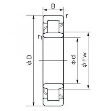 110 mm x 280 mm x 65 mm  NACHI NU 422 cylindrical roller bearings