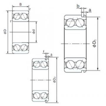 20 mm x 47 mm x 20.6 mm  NACHI 5204NR angular contact ball bearings