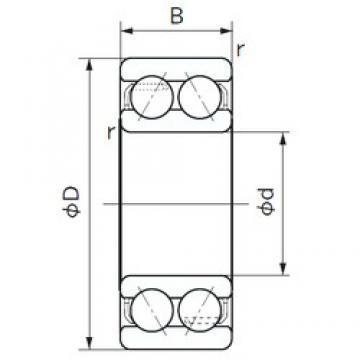 20 mm x 47 mm x 20.6 mm  NACHI 5204 angular contact ball bearings