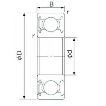 160 mm x 220 mm x 28 mm  CYSD 6932-RZ deep groove ball bearings