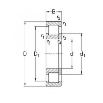 110 mm x 280 mm x 65 mm  NKE NUP422-M cylindrical roller bearings