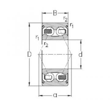 20 mm x 47 mm x 20,6 mm  NKE 3204-B-2Z-TV angular contact ball bearings