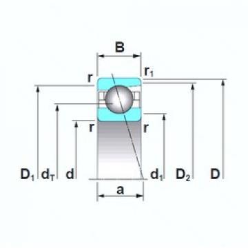 160 mm x 220 mm x 28 mm  NSK 7932CTRSU angular contact ball bearings
