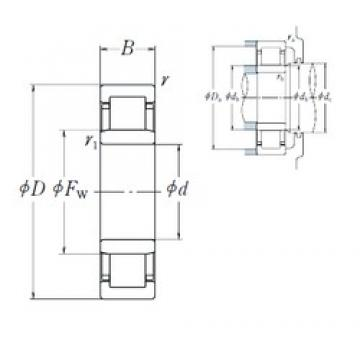 110 mm x 280 mm x 65 mm  NSK NU 422 cylindrical roller bearings