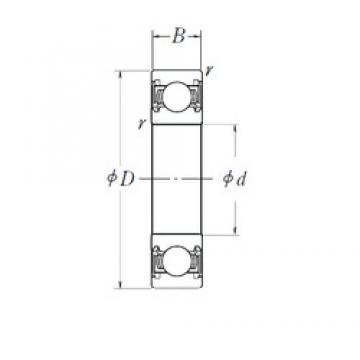 160 mm x 220 mm x 28 mm  NSK 6932DDU deep groove ball bearings
